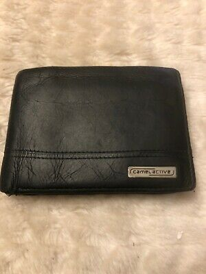 Camel Active Leather Wallet, Black • 45£