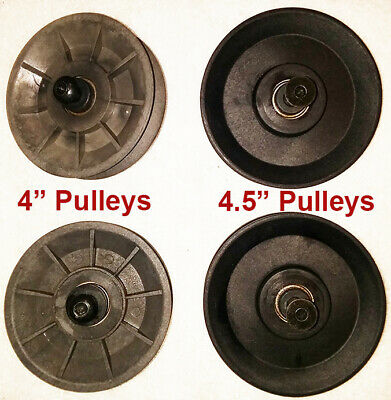 $ CDN73.21 • Buy TWO USED 4  Pulleys + TWO USED 4.5  Pulleys And Bolts For Bowflex Revolution XP