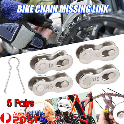 AU14.23 • Buy 5 Pairs 6/7/8/9/10/11 Speed Bike Chain Master Link Connector QR + Simple Tool AU