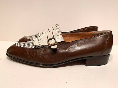 $ CDN211.82 • Buy Star Artioli Fringe Hand Made In Italy Tan Mens Shoes Size  9.5