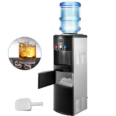 $249.97 • Buy 2IN1 Electric Hot Cold Water Dispenser With Ice Maker Machine Safety Lock Black
