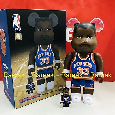 $158.99 • Buy Medicom Be@rbrick NBA Patrick Ewing New York Knicks 400% + 100% Bearbrick Set 2p