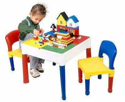 Activity Table Chair Set 5 In 1 Writing Top Lego Sand Water Storage Fun Play  • 58.49£