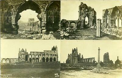 Real Photo Multiview Postcard Of Whitby Abbey, North Yorkshire By Jt Ross #217 • 6£