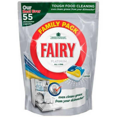 AU34 • Buy Fairy Platinum All In One Dishwasher Tablets 55-Pack