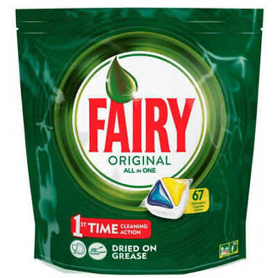 AU34 • Buy Fairy All-in-One Lemon Dishwasher Tablets 67 Pack