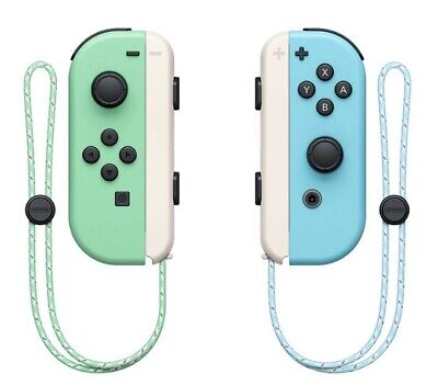 AU172.48 • Buy AUTHENTIC Nintendo Switch Animal Crossing Edition Joy Cons And Straps