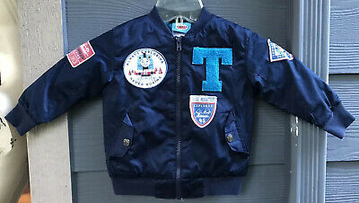 £13.07 • Buy Thomas The Tank Engine And Friends Jacket Navy Blue Puffer Lined Patches Zip EUC