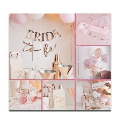 Pink Rose Gold Team Bride To Be Hen Party Accessories Decorations Games Favours • 3.99£