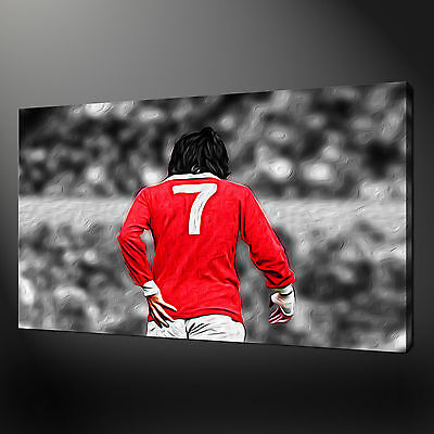George Best Canvas Wall Art Pictures Prints Free Fast Uk Delivery • 21.89£