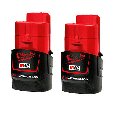 AU84 • Buy Genuine Milwaukee 12V Li-Ion M12 RED LITHIUM Battery 2 Pack Set - Au Stock