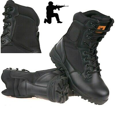 £30 • Buy Mens Leather Safety Army Combat Military Tactical Steel Toe Cap Work Hi Boots Sz