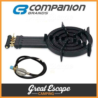 AU149.90 • Buy Companion Cast Iron Quad Ring Burner - 4 Ring Burner With Gas Hose