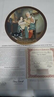 $ CDN23.97 • Buy Norman Rockwell Centennial - The Toy Maker - 3D Collectors Plate - Limited Ed.