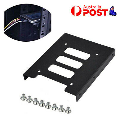 AU5.92 • Buy 2.5 Inch SSD HDD To 3.5 Inch Metal Mounting Adapter Bracket Dock For PC Black AU
