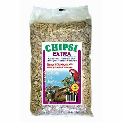 Chipsi Beechwood Bedding Chips XXL Large Saw Dust Wood Parrot Paradise Bird 10L • 11.13£