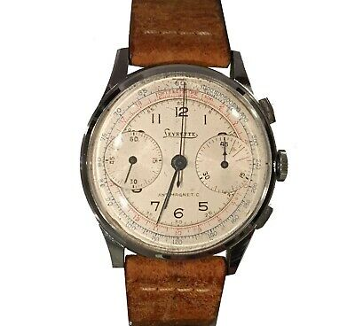 $ CDN2201.70 • Buy Vintage Levrette Chronograph – Mechanical Movement – 1940s/50s Telemetre