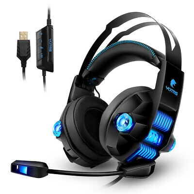 AU85.49 • Buy PC Gaming Headset Over-Ear Gaming Headphones With Mic LED Light Noise Cancelling