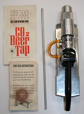 Vintage Conax Tip-Tap Beer Tap CO2 Cartridge In Handle Design W/ Box • 14.96£