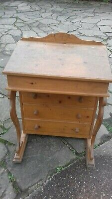 Solid Pine School Desk With Three Drawers Well Made & Solid. • 55£