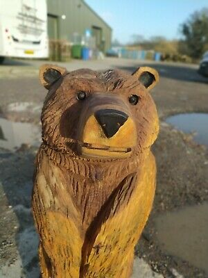 Sussex Chainsaw Carving Elm Bear Great Gift Idea Wooden Garden Or Home Sculpture • 130£