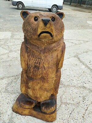 Sussex Chainsaw Carving Elm Bear Great Gift Idea Wooden Garden Or Home Sculpture • 280£
