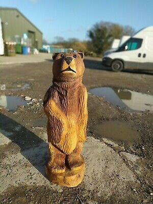 Sussex Chainsaw Carving Elm Bear Great Gift Idea Wooden Garden Or Home Sculpture • 220£