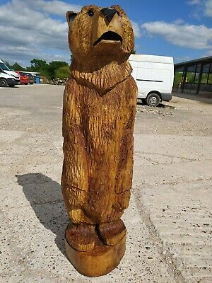 Sussex Chainsaw Carving Elm Bear Great Gift Idea Wooden Garden Or Home Sculpture • 230£