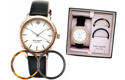 $ CDN87.66 • Buy Kate Spade Morningside Interchangeable Top Ring Leather 34mm Watch KSW1556B