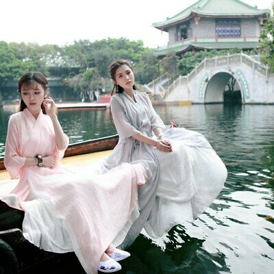 $ CDN34.61 • Buy Hanfu Clothes Chinese Ancient Traditional Costumes Embroidery Oriental Chinese