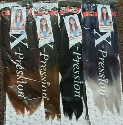Xpression Pre Stretched Hair Extensions X 3bundles In A Pack 40'' N 50'' Braids • 9.99£