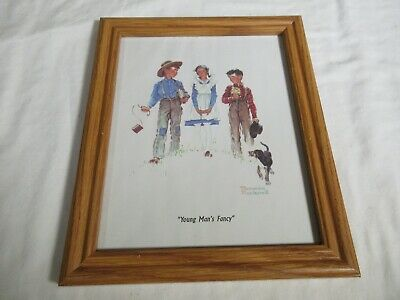 $ CDN13.27 • Buy Vintage Norman Rockwell Framed Print  Young Man's Fancy  8x10 In Wood Frame