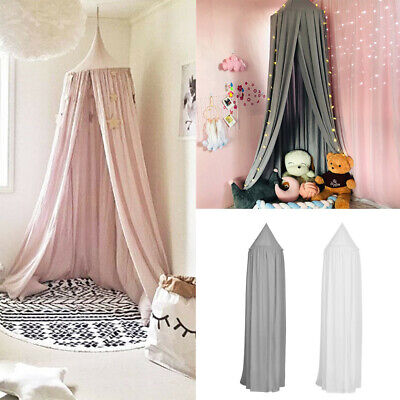 UK Dome Cotton Bed Canopy Mosquito Net Children Tent Curtain For Baby Girls Room • 14.99£