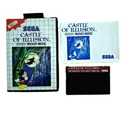 AU34.20 • Buy Castle Of Illusion Starring Mickey Mouse - Complete Sega Master System  PAL