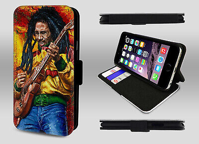 Bob Marley Music Reggae Rastaman Rasta Jamaica Wallet Leather Phone Case Cover • 8.95£