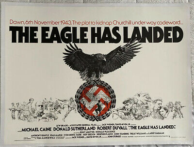 The Eagle Has Landed UK British Quad LINEN BACKED Film Poster (1977) Caine • 449.99£
