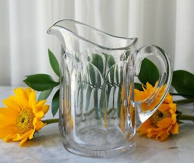 $59.95 • Buy Antique Clear Glass Pitcher Thick Heavy Glass Circa 1900