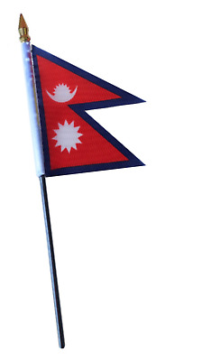 £3.75 • Buy Nepal Cut Out Small Hand Waving Flag