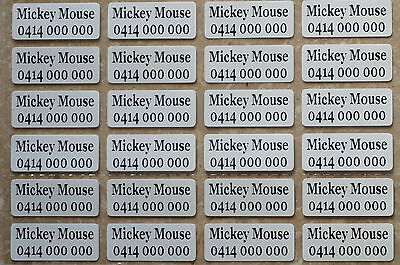 AU3.29 • Buy 24 IRON ON Personalised Name Stickers Tag / Label For Clothing, 2.2 X 0.9 CM
