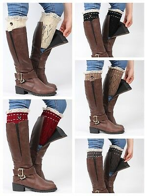 £4.25 • Buy Leg Warmers Knitted Boot Cuff