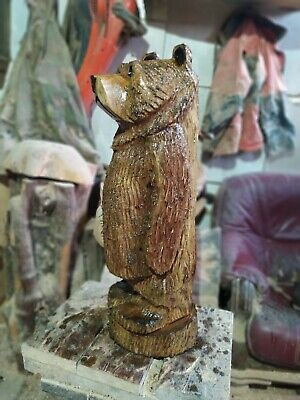 Sussex Chainsaw Carving Elm Wood Bear Home Or Garden Statue Sculpture Statue • 110£