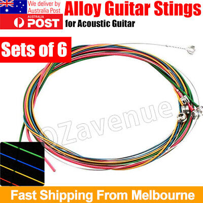AU4.95 • Buy 2020 NEW Set Of 6 Rainbow Color Classical Acoustic Guitar Strings AU