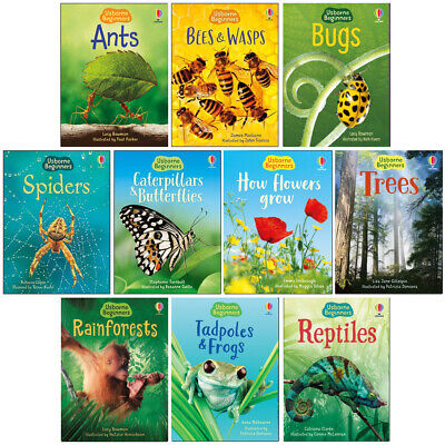 £13.95 • Buy Usborne Beginners Nature 10 Books Children Collection Paperback Gift Pack Set