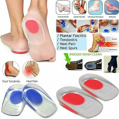 Foot Pain Relief Plantar Fasciitis Gel Heel Spur Support Cushion Insoles Pad Cup • 3.49£