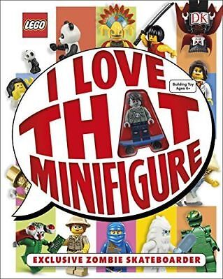 NEW LEGO ® I Love That Minifigure Book With Skateboard Zombie Minifigure By DK • 9.95£