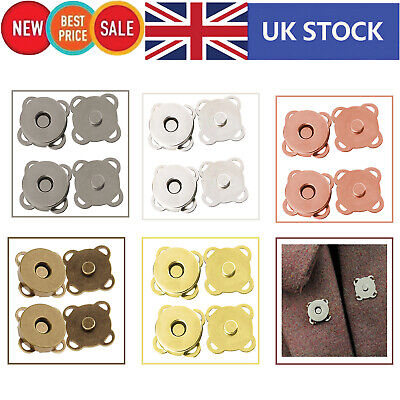 14/18mm Magnetic Snap Clasp Buttons Fastener For DIY Purses Handbag Leathercraft • 1.89£