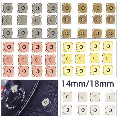 Magnetic Snap Buttons Clasps 14/18mm Fasteners For DIY Bag Purse Leathercrafts • 1.89£