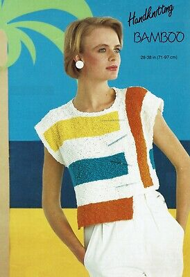 Lady's Holiday Crop Top Knitting Pattern In DK. Vest, Sweater.  • 3.99£