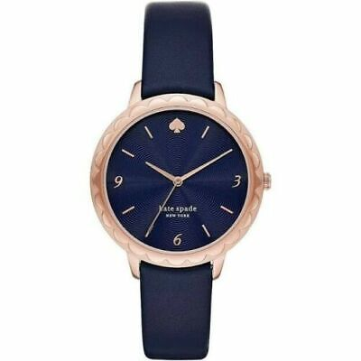 $ CDN104.66 • Buy Kate Spade NY Morningside Ladies Scalloped Navy Leather Strap Watch 38mm KSW1577