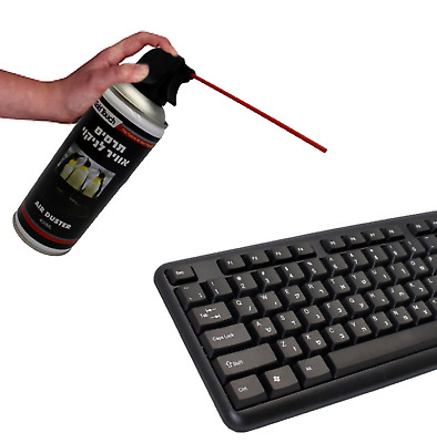 New 400 Ml Compressed Air Pressure Duster Spray Can Cleans Computer Keyboards • 16.57£